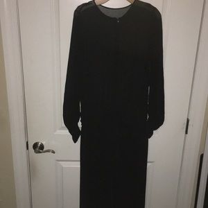 Chiffon Black Maxi split Dress